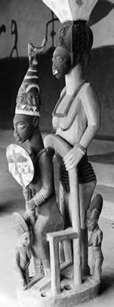 Sculpture by Olowe of Ise, courtesy of the Royal Anthropological Institute.