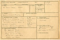 Radcliffe-Brown's war census record © RAI